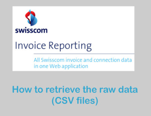 Swisscom Invoice Reporting – How to retrieve the raw data (CSV files)